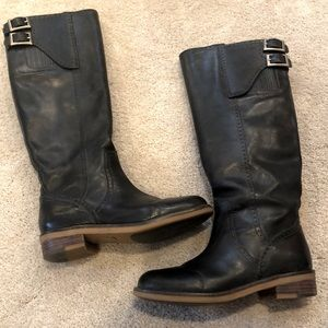 LUCKY BRAND TALL LEATHER RIDING BOOTS